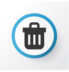 trash can icon symbol premium quality isolated vector image