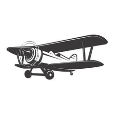 Vintage plane isolated on white vector