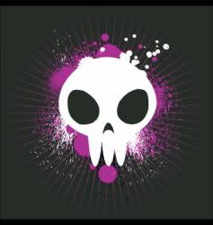 Cute graffiti skull vector