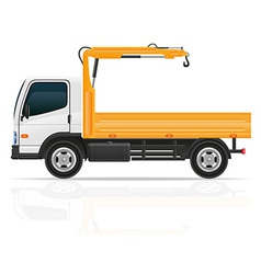 Truck with a small crane vector