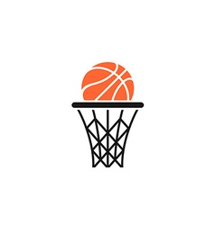 Basket and ball logo vector