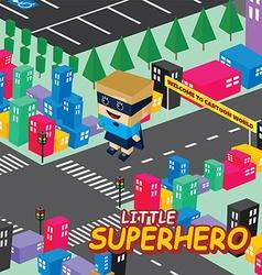 Amazing female superhero isometric theme vector