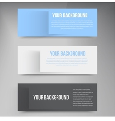 banners and squares Color vector image vector image