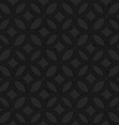 Black textured plastic irregular grid with circles vector image