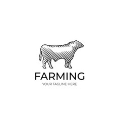 Bull logo template vector