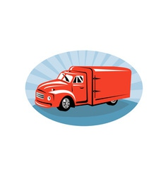 Delivery or camper van viewed from vector image