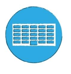 emblem city office building line sticker vector image vector image