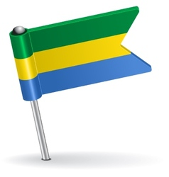 Gabon pin icon flag vector image vector image
