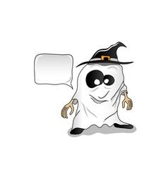 ghost halloween vector image vector image