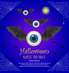 halloween sale offer poster design concept vector image