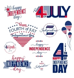 Happy Independence Day United States overlay vector image