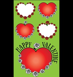 heart and roses Valentine design vector image