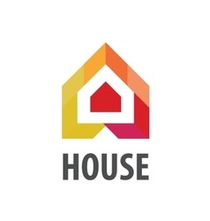 logo House in the form of arrows vector image