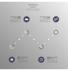 Modern template with volume elements of vector image