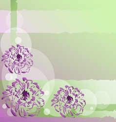 Nice background with flowers vector