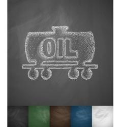 Oil tank icon vector
