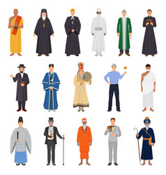 People world religions set vector