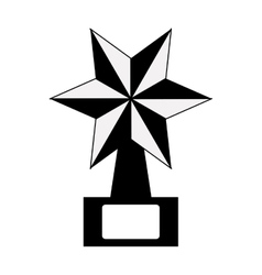 Star award icon vector