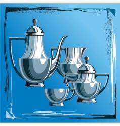 tea service vector image vector image
