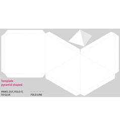 Template pyramid shaped vector