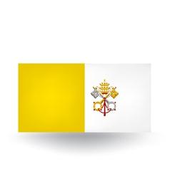 Vatican City Flag vector image