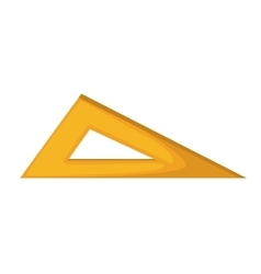 Rule triangle school isolated icon vector