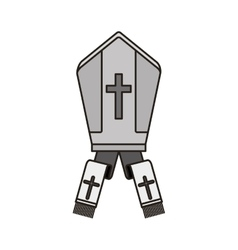 Pope hat icon vector