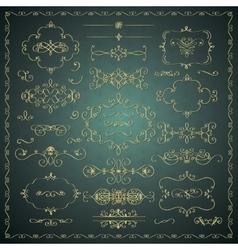 Hand drawn decorative golden design vector