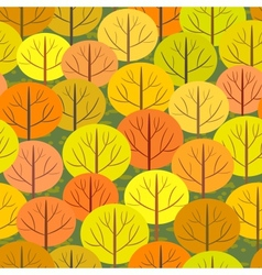 Abstract autumn forest seamless background vector