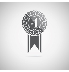 Black award icon vector
