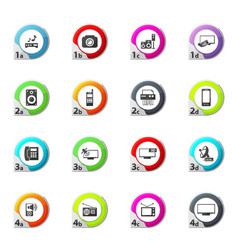 Home appliances icons set vector