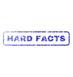 Hard facts rubber stamp vector