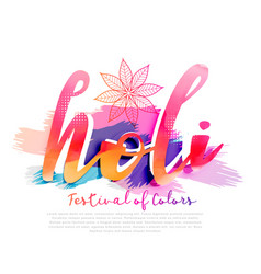 colorful background for happy holi festival vector image