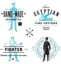 Vintage clothing labels vector image