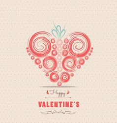 Valentines day card with heart ornament 1 vector