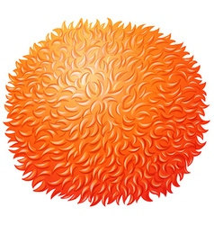Orange fluffy ball on white vector