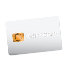 entry card vector image