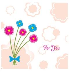 plasticine flowers vector image