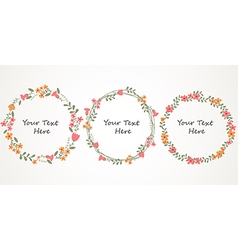 Autumn floral frame collections vector