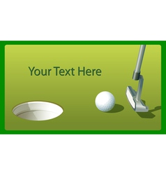 Golf putt vector image