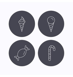 Ice cream candy icons vector