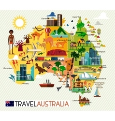 Australia travel set vector