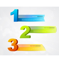 Banners with numbers vector image vector image