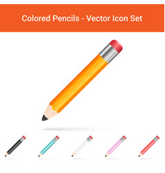 Colored pencils isolated on a white background vector