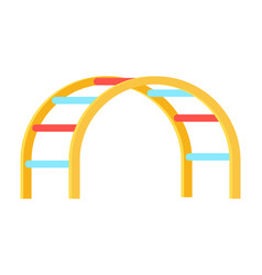 curved ladder for kids playground on white vector image vector image
