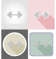 Fitness flat icons 01 vector