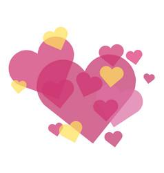 Hearts - happy valentines day vector