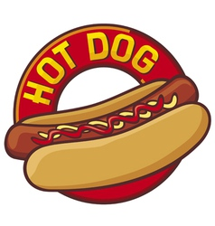 hot dog label vector image vector image