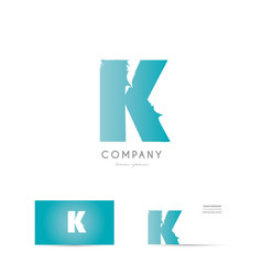 k blue letter alphabet logo icon design vector image