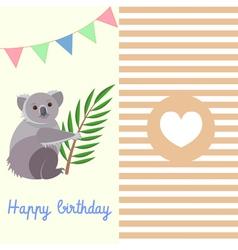 Koala birthday vector image vector image